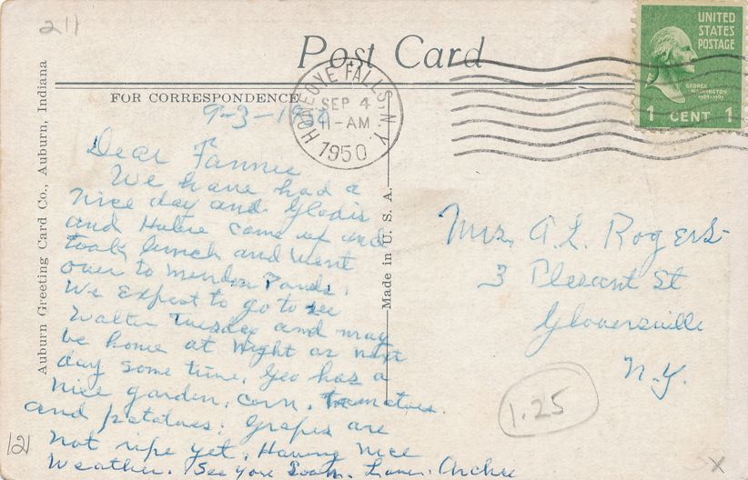 Honeoye Falls, New York - The Methodist Church - pm 1950