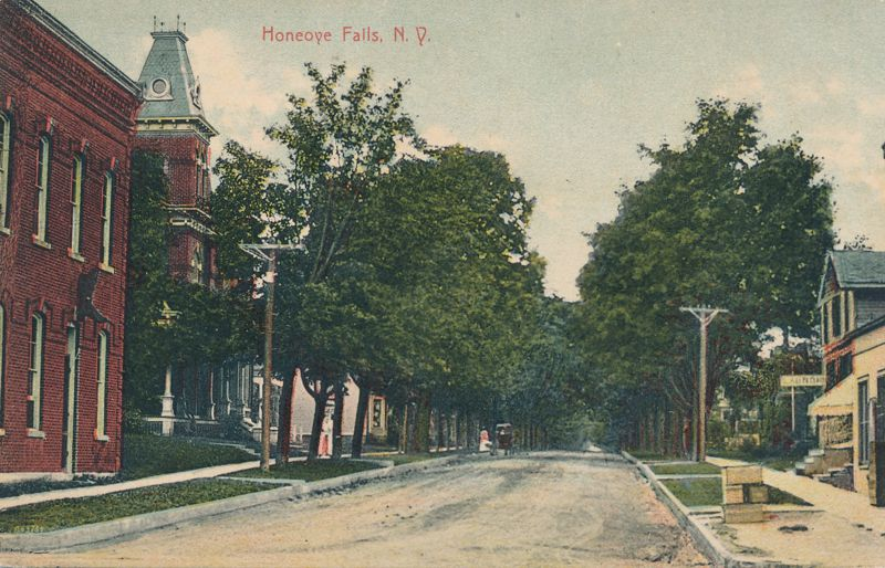 Honeoye Falls, New York - Laundry on right side - DPO 1909 at North Bloomfield - Divided Back