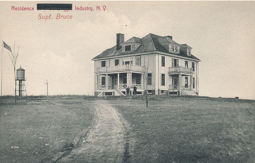 Residence of Superintendent Bruce - Industry secure School near Rush, New York