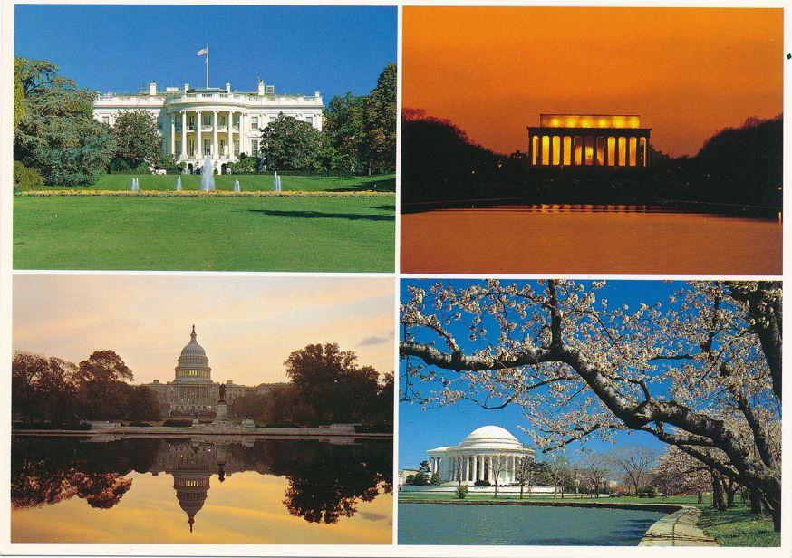 Capitol, Washington, DC - White House - Lincoln Memorial, Jefferson Memorial