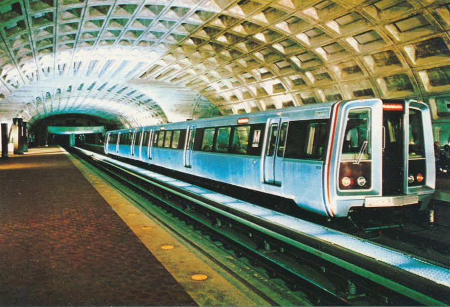 Metro Station Rapid Rail Transit System, Washington, DC