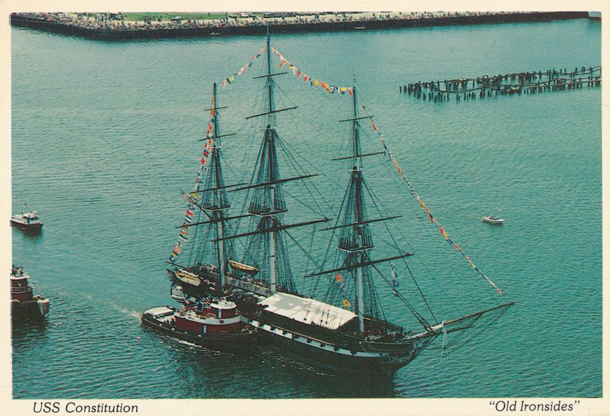 Charlestown, Massachusetts - Tall Ship USS Constitution - Old Ironsides in Boston Harbor