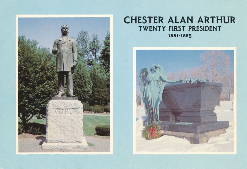 Chester Alan Arthur 21st President - Statue now at Union College Schenectady NY