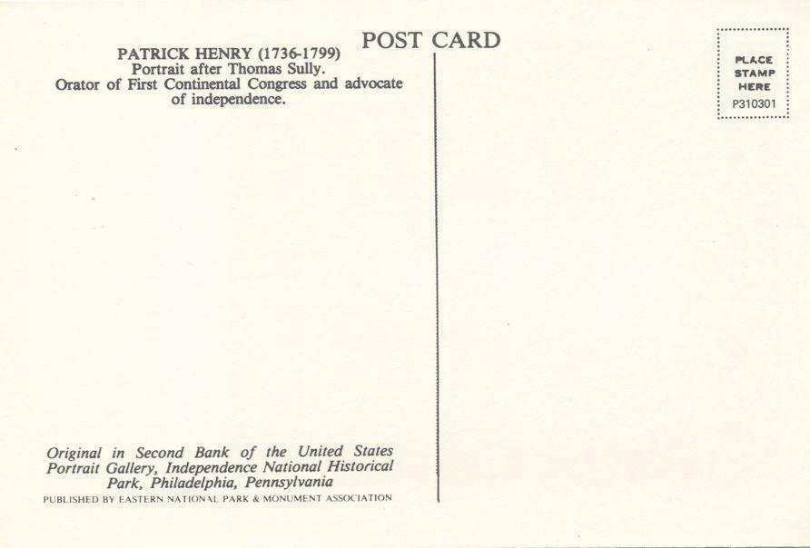 Patriotic Orator Patrick Henry - Continental Congress 1736-1799