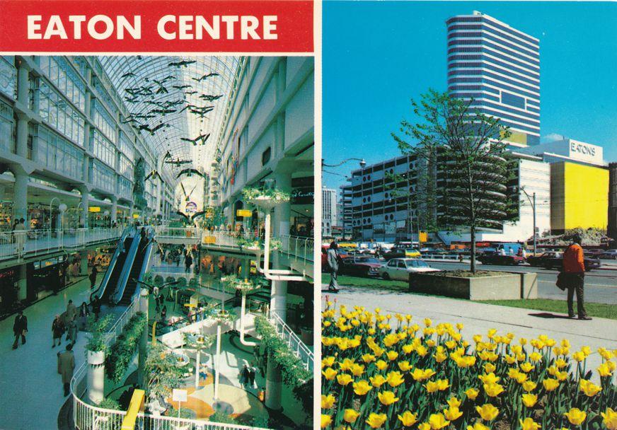 Toronto, Ontario, Canada - Eaton Centre Shopping Center on Yonge Street