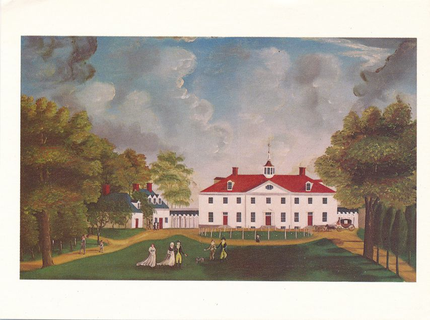 View of Mount Vernon, Virginia - Home of Washington circa 1790