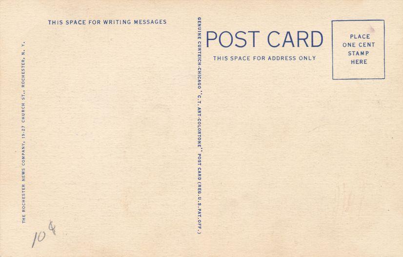 Rochester, New York - New U. S. Post Office - Linen Card