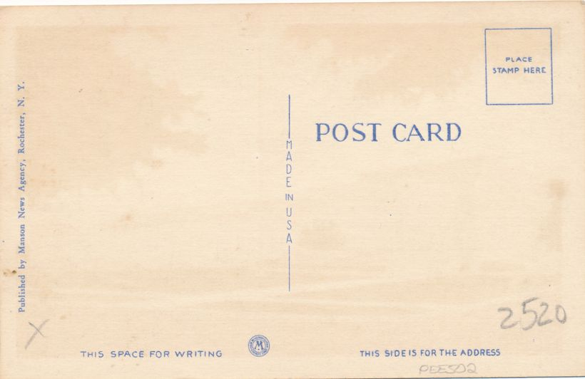 Rochester, New York - Radio City - Station WHAM - Linen Card