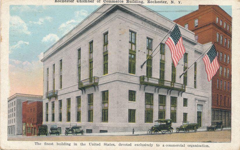Chamber of Commerce - Rochester, New York - Finest Commercial Building - pm 1922 - White Border