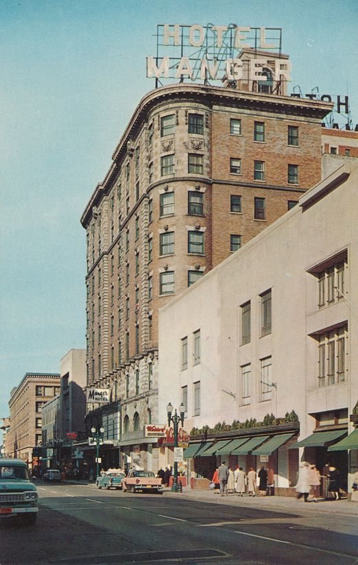 Hotel Manger looking North on Clinton Avenue - Rochester, New York