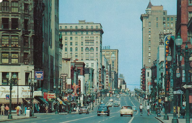 Rochester, New York- Main Street looking East - Nice Signage