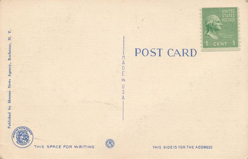 High School in Charlotte - Rochester, New York - Linen Card