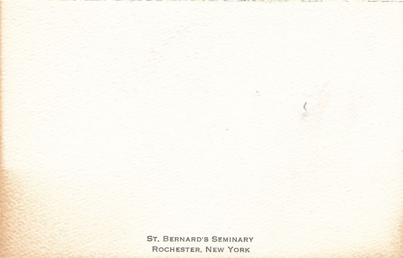 St Bernard's Seminary - Rochester, New York - Ephemera - Folded Note card