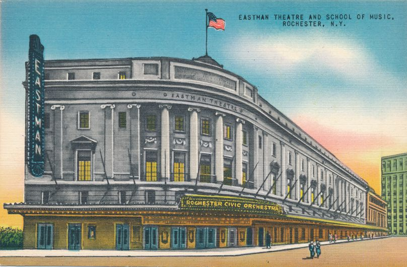 Rochester, New York - Eastman Theatre Theater School of Music - Linen Card