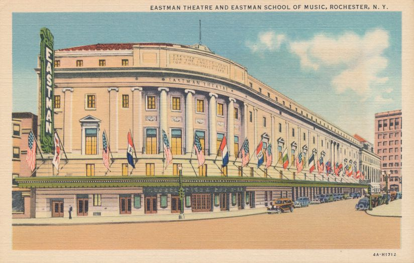 Eastman School of Music - Rochester, New York - Theatre - Theater - Linen Card