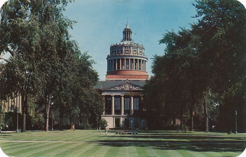 Rush Rhees Library - University of Rochester, New York - pm 1960