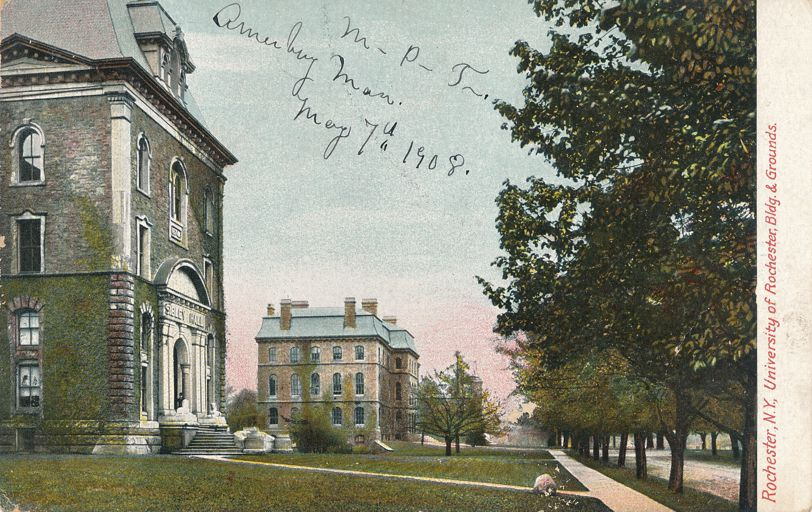 University of Rochester, New York - Buildings and Grounds - pm 1908 at Amesbury MA - Divided Back