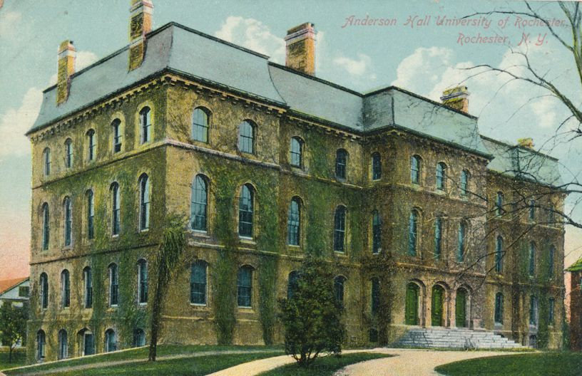 Anderson Hall at the - University of Rochester, New York - Divided Back
