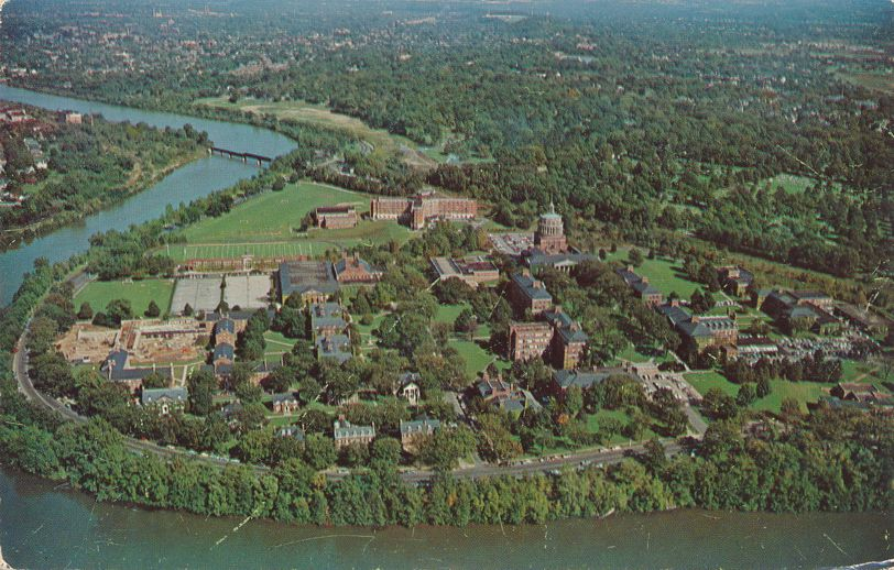 Aerial View of Genesee River - University of Rochester, New York