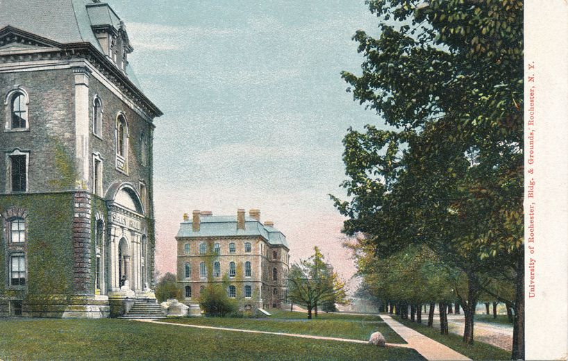 Buildings and Grounds at - University of Rochester, New York - Undivided Back