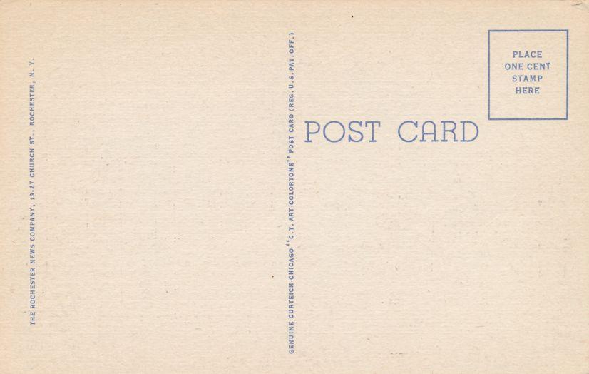 University of Rochester, New York - Strong Memorial Hospital - Linen Card
