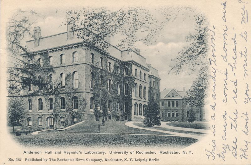University of Rochester, New York - Anderson Hall and Reynold's Laboratory - pm 1905 - Undivided Back