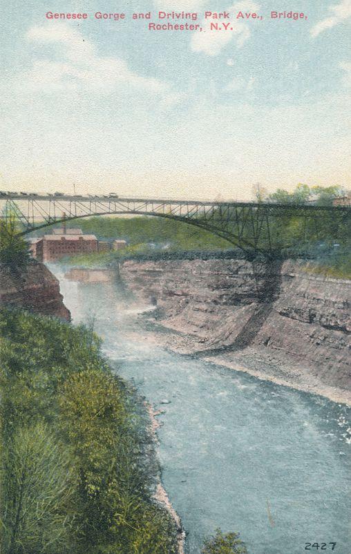Genesee River Gorge - Driving Park Avenue Bridge - Rochester, New York - Divided Back