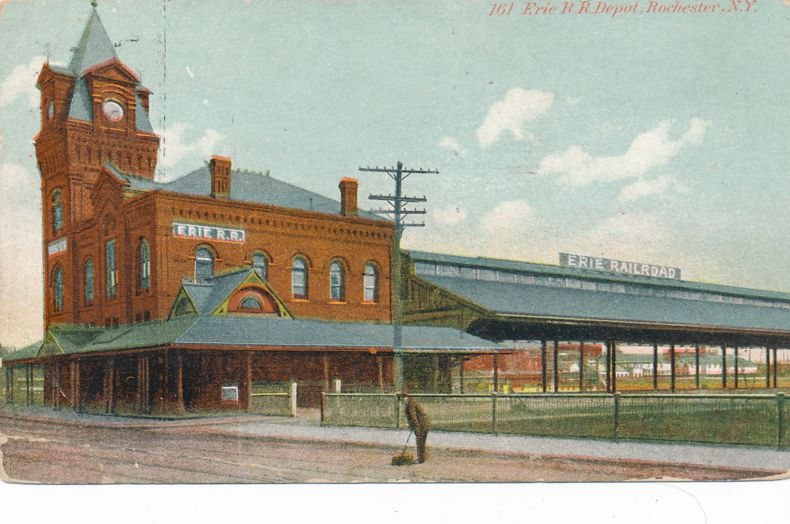 Rochester, New York - Erie Railroad Station - Depot - pm 1909 - Divided Back