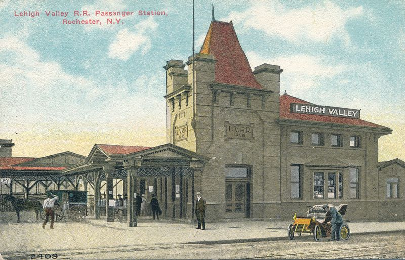 Lehigh Valley Railroad Passenger Station - Rochester, New York - Divided Back