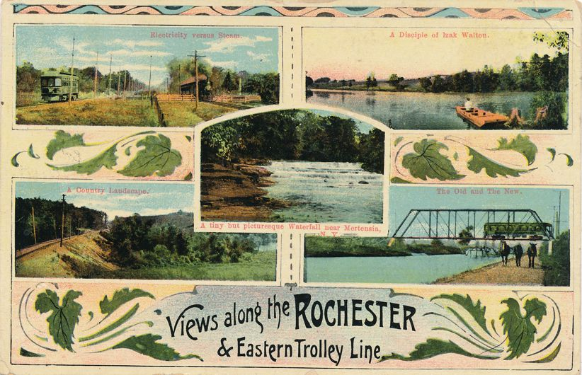 Rochester, New York - Views along Eastern Trolley Line - pm 1909 at Stanley NY - Divided Back