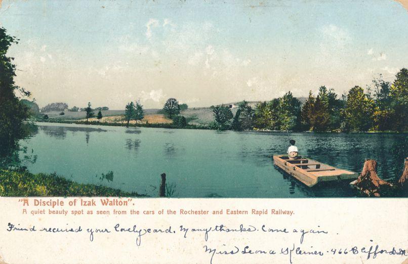 Fisherman Disciple of Izak Walton Rochester, New York - Along Eastern Rapid Railway - pm 1907 - Undivided Back