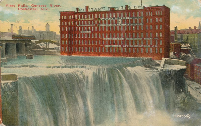 Rochester, New York - The First Falls of th Genesee River - pm 1912 - Divided Back
