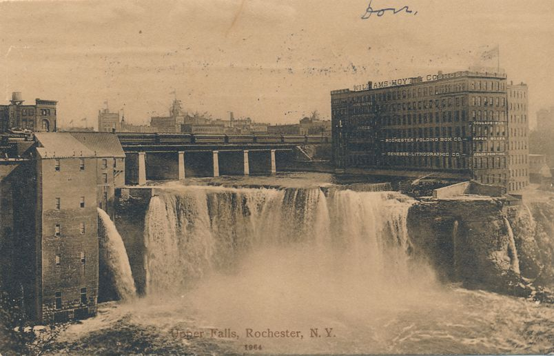 Upper Falls of Genesee River - Rochester, New York at Williams Hoyt Co. - pm 1910 - Divided Back