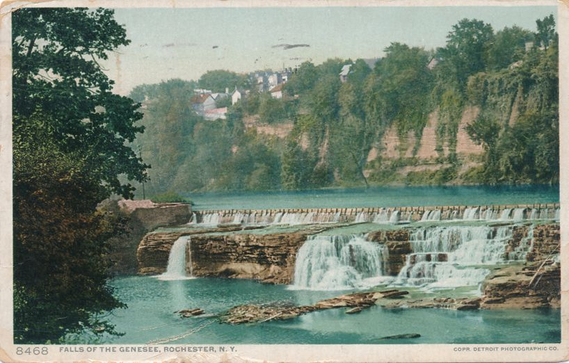 Genesee River Middle Falls - Rochester, New York - pm 1911 - Divided Back - Detroit Publishing