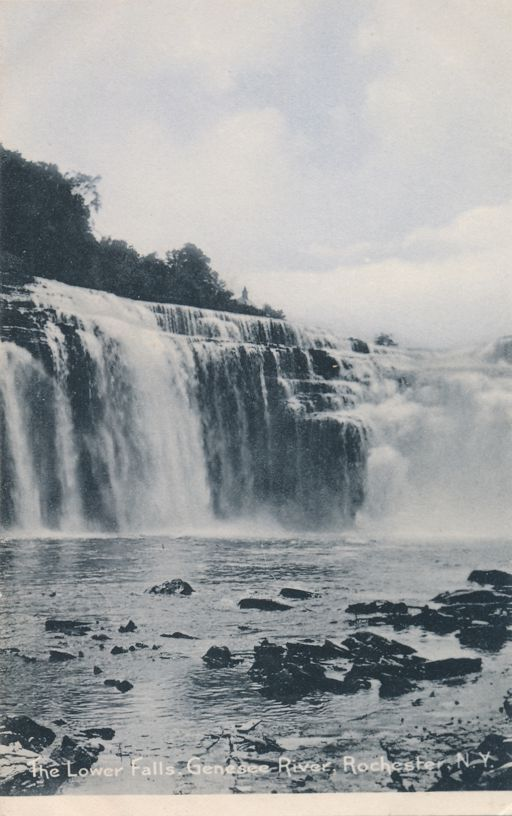 Rochester, New York - The Lower Falls on the Genesee River - Undivided Back