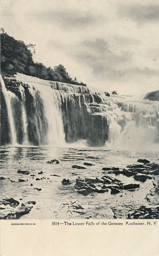 The Lower Falls of the Genesee River - Rochester, New York - Undivided Back