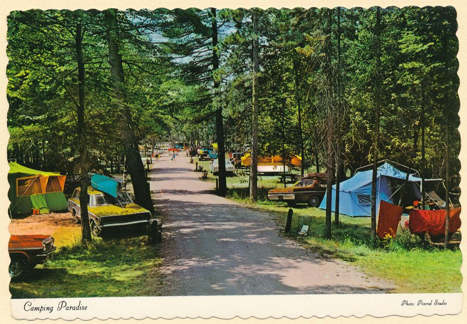 Camping Paradise - Tents - Camping Trailers - perhaps in Indiana - pm 1982