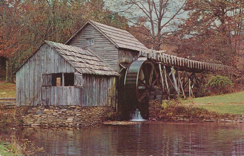Old Mabry Grist Mill on Blue Ridge Highway, Virginia