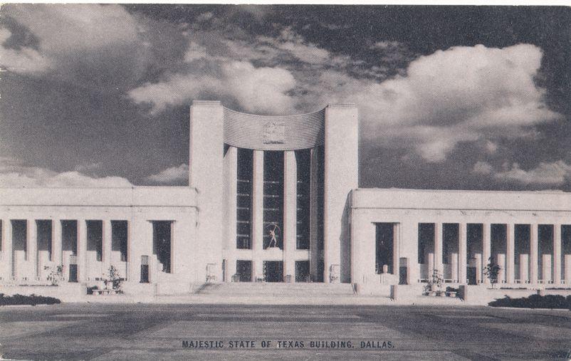 Majestic State of Texas Building - Dallas, Texas - Conoco Touraide Card