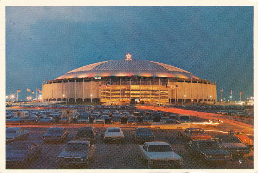 Christmas View of the Aatrodome - Houston, Texas - pm 1981