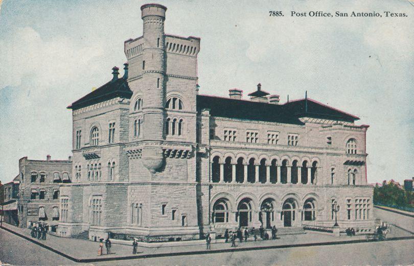 Post Office at San Antonio, Texas - Divided Back