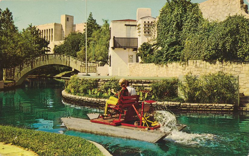San Antonio, Texas - Paddle Boat on Downtown River