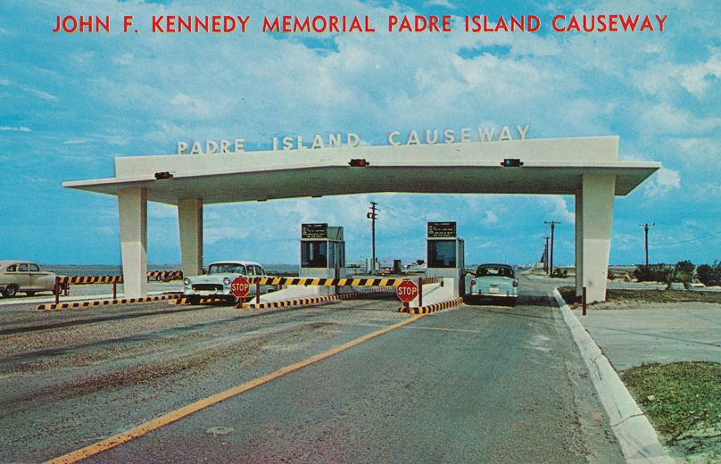 John F. Kennedy Memorial Padre Island Causeway - Texas - Toll Booth