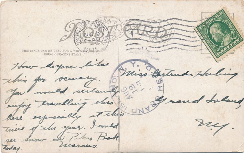 Garden of the Gods, Colorado - Seal and Bear - pm 1911 - Divided Back