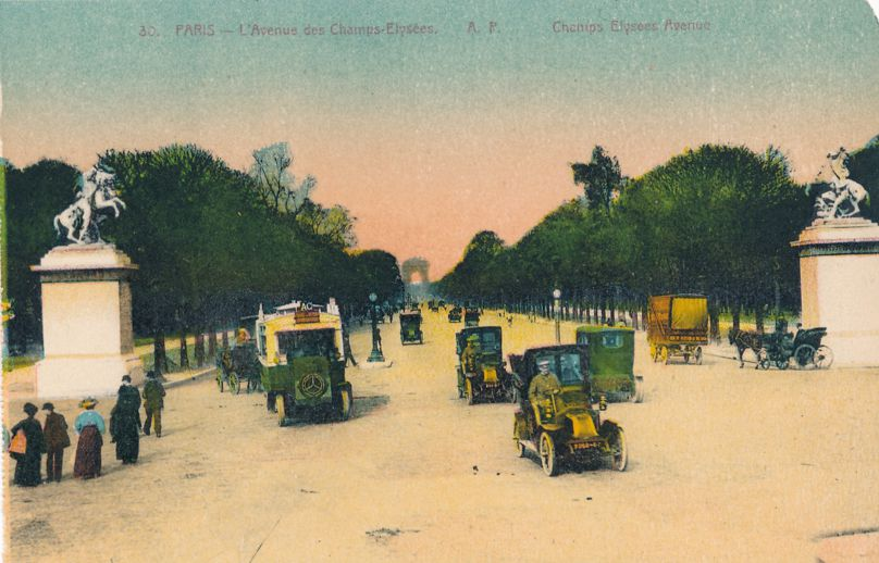 Paris, France - Champs Elysees Avenue - Early 1900's - Divided Back
