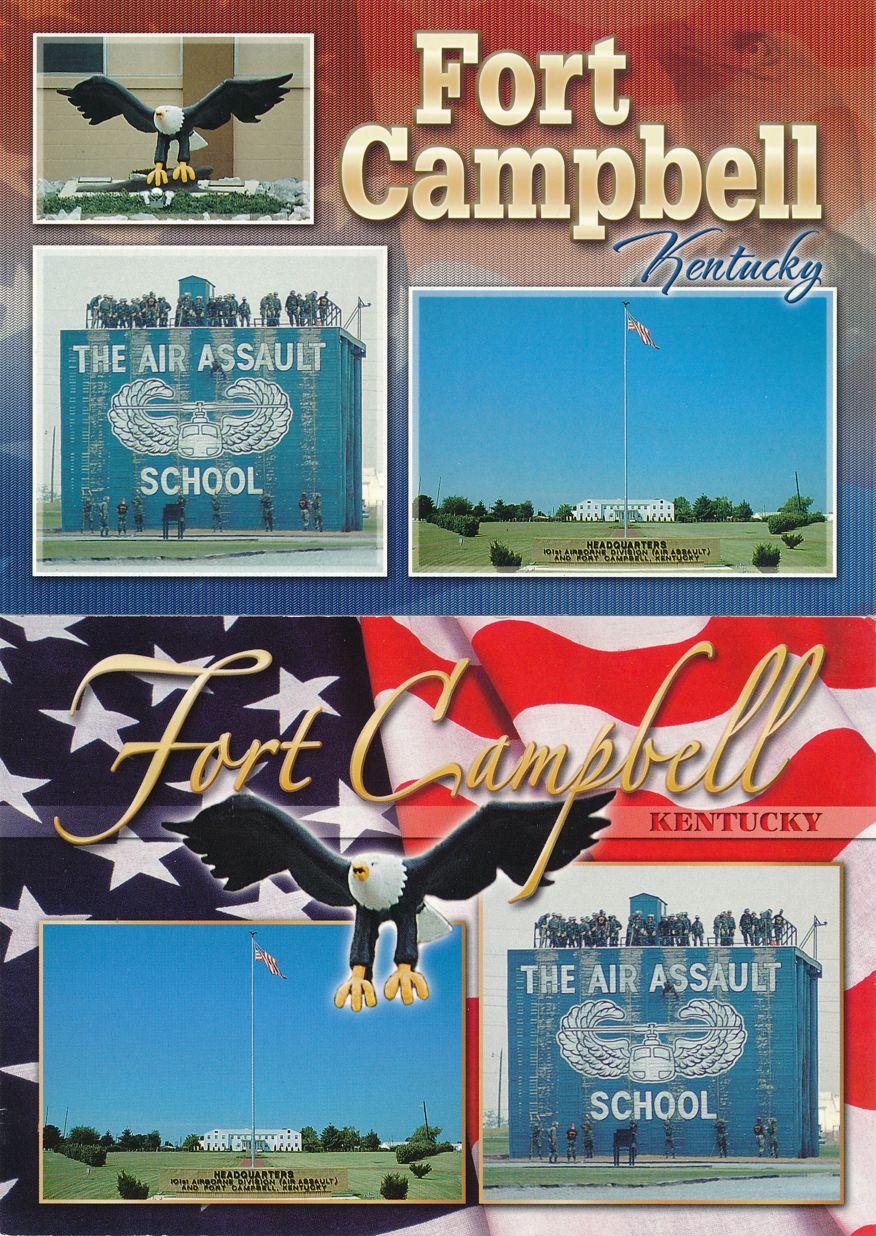 (2 cards) Fort Campbell, Kentucky - Air Assault School