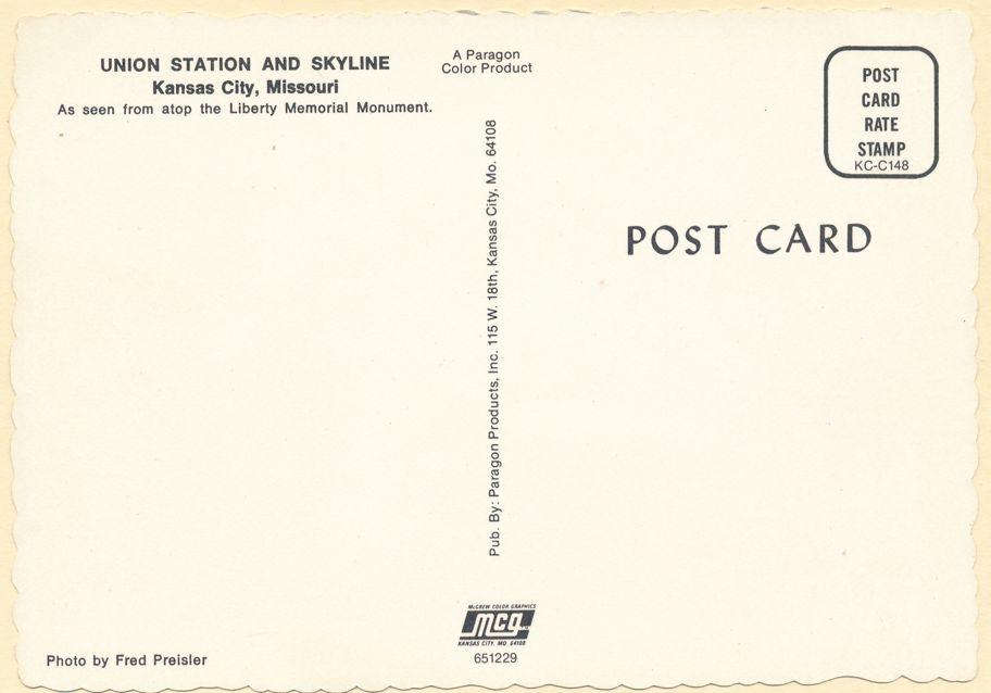 Kansas City, Missouri - Union Station and Skyline