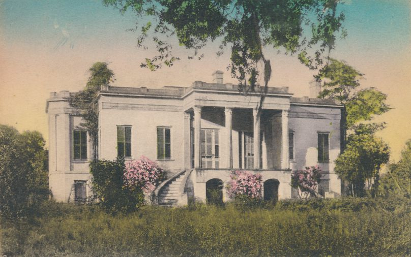 Mansion at Hermitage Plantation - Savannah, Georgia - Hand-colored