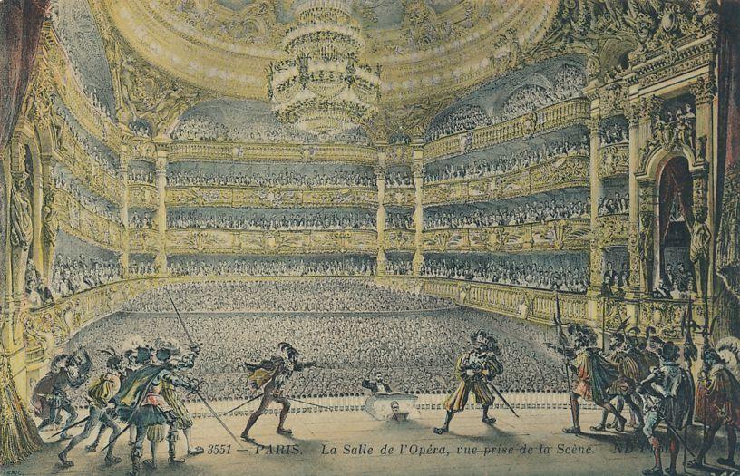 Opera House Interior in Paris, France - Opera in Progress - Divided Back