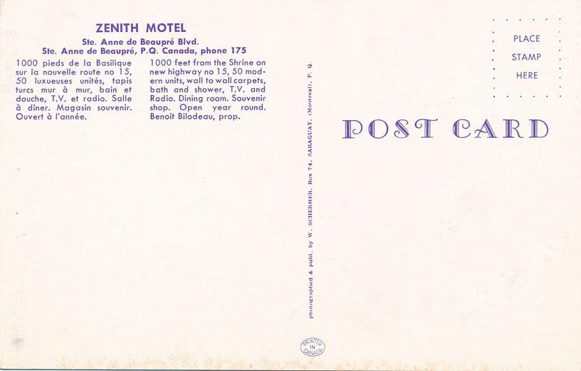 Zenith Motel - Ste Anne De Beaupre, Quebec, Canada